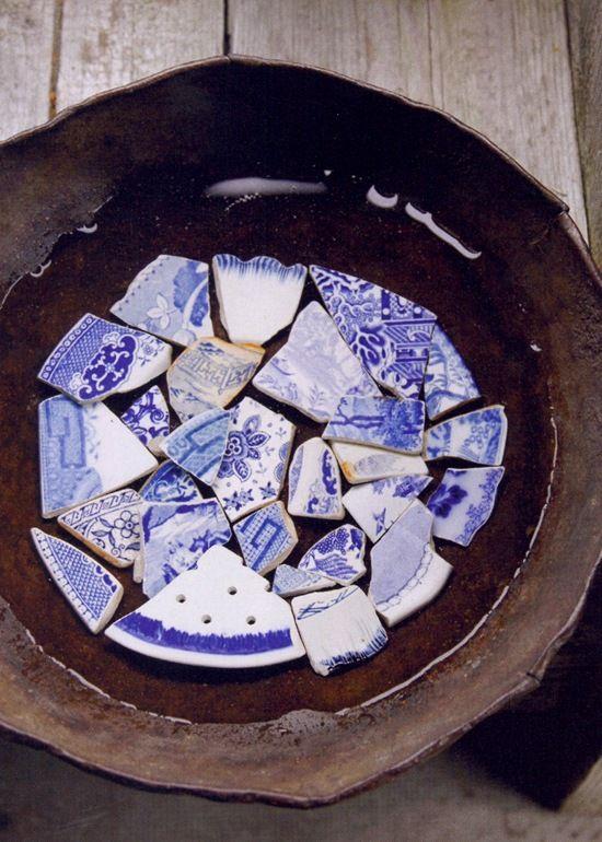 belgian pearls broken plates idea