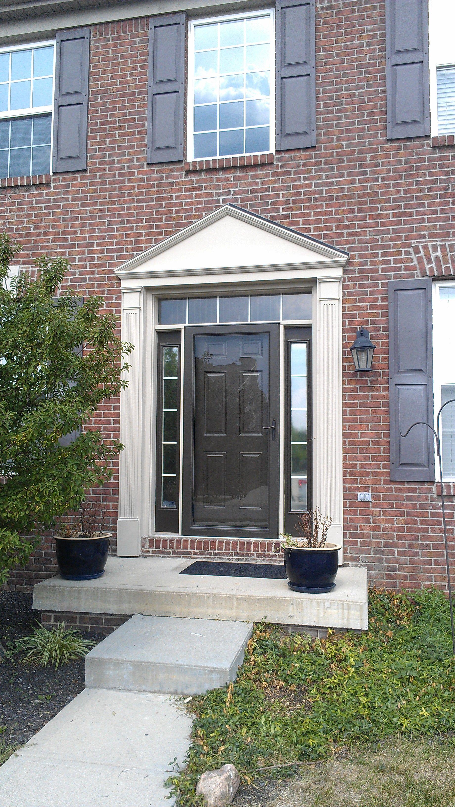 new storm door  doors i have done  Home remodeling