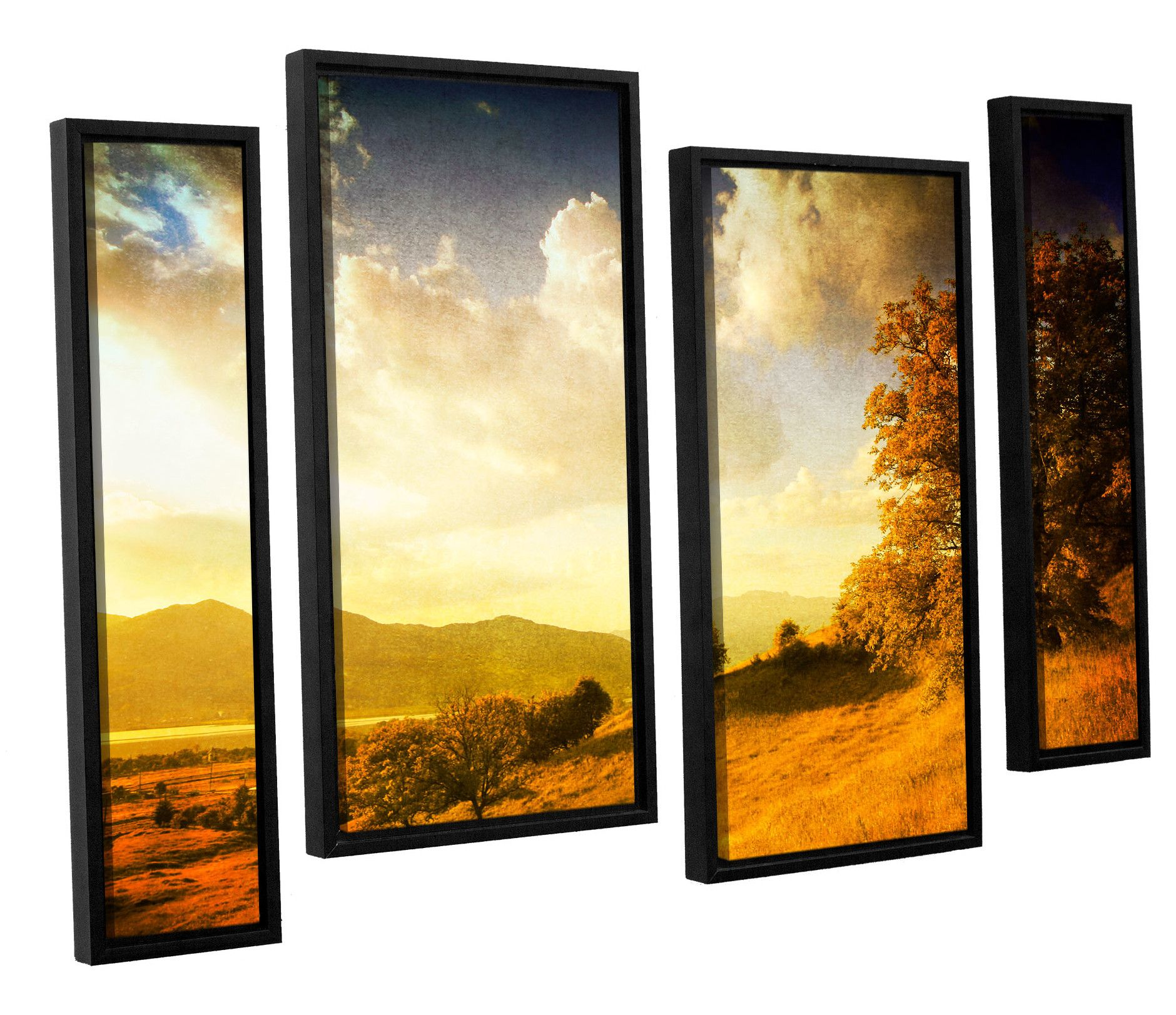Autumn Vision 4 Piece Framed Photographic Print on Canvas Set ...