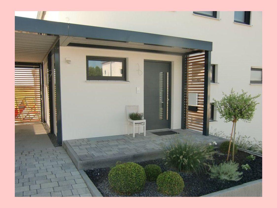 Doppel Carport Mit Hauseingangsuberdachung Und Gerateraum Hinten News Brandl 3542 In 2020 Haus Terassenideen Haus Aussenbereiche