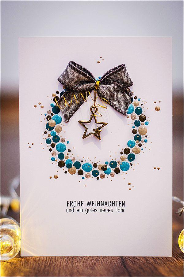 Vielleicht bin ich ja süchtig....{Weihnachtskarten....} - be more creative #weihnachtskartenbastelnmitkindern