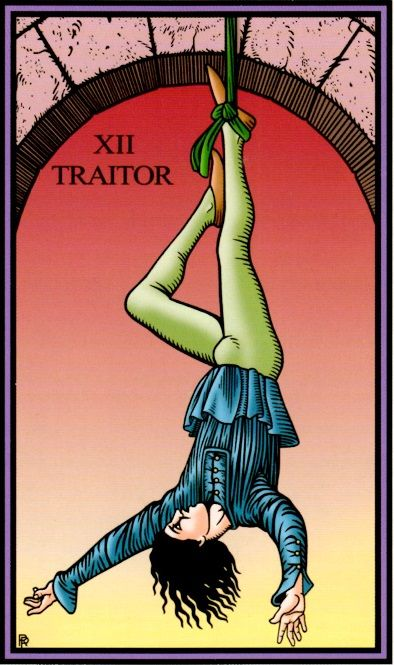 Creative aporia, when you feel hung up and don't know what to do, here's what the Hanged Man teaches...  http://www.diviningthemuse.com/3-steps-creative-aporia/ ‎ (image from Robert Place's Tarot of the Sevenfold Mystery)