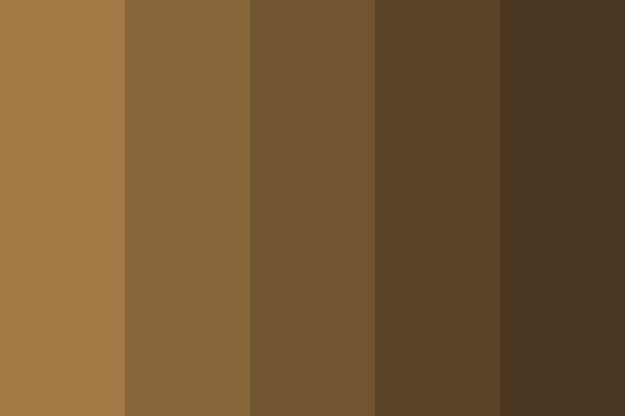 Sepia Brown Hair Swatches Color Palette Colorpalette