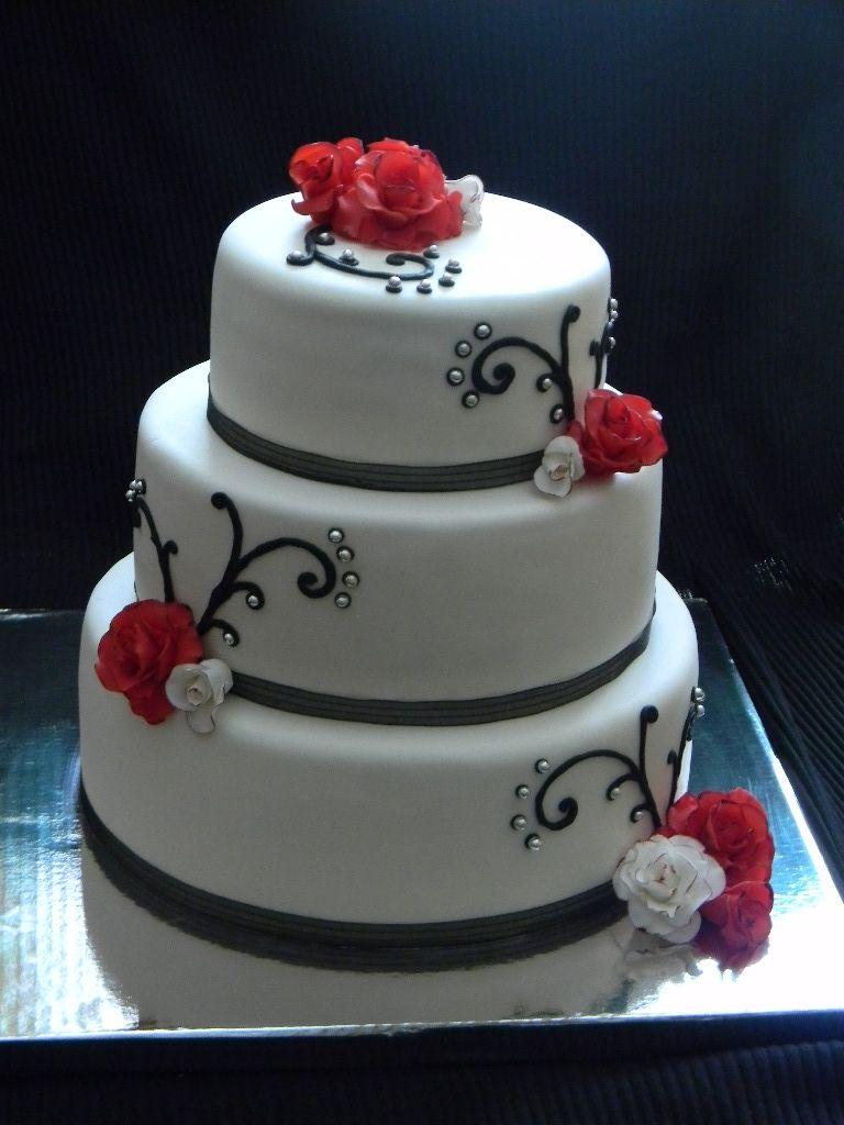 - Black Magic Roses   Wedding cake red, Gothic wedding ...   Affordable Wedding Cakes Black And Red