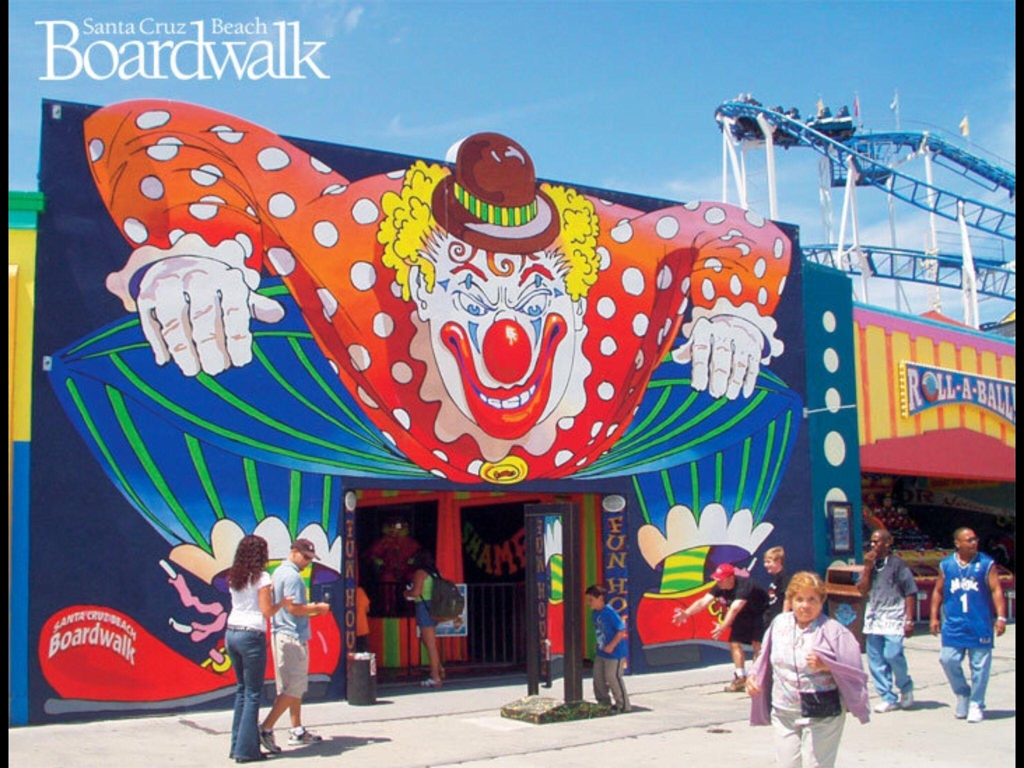 Clown House Santa Cruz Beach Boardwalk Santa Cruz Beach Beach
