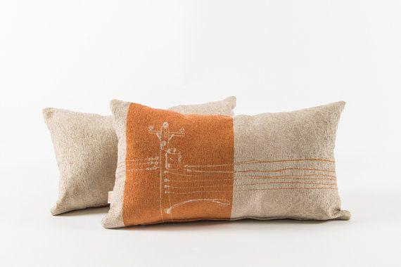 Orange Cushion Urban Pattern 2 By Foututissu On Etsy Orange Cushions Cushions Orange