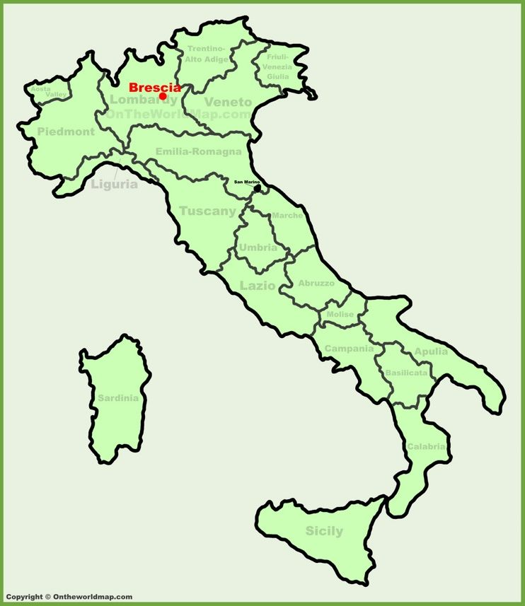 Brescia location on the Italy map | Maps | Pinterest | Italy ...