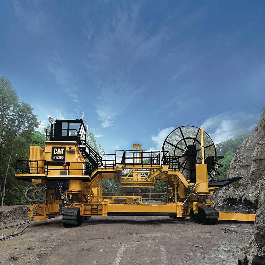 Caterpillar Hw300 Highwall Mining System With Images Heavy