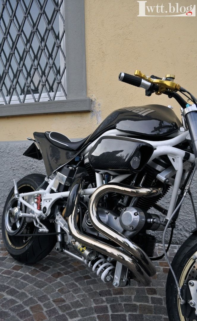 Buell S1 one sided swingarm with reworked rear