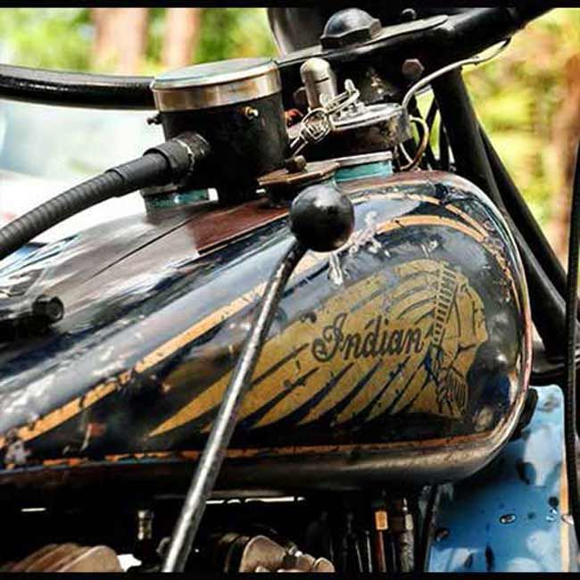 """Old Indian Motorcycle Gas Tank--- 1 of 14 Pictures in our """"Other Motorcycle Related"""" Album  #IndianMotorcycle"""