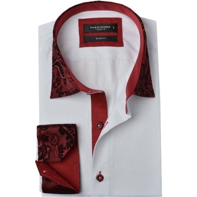 Oscar Banks Paisley Flock Collar Mens Shirt Mens Shirts Shirts Paisley