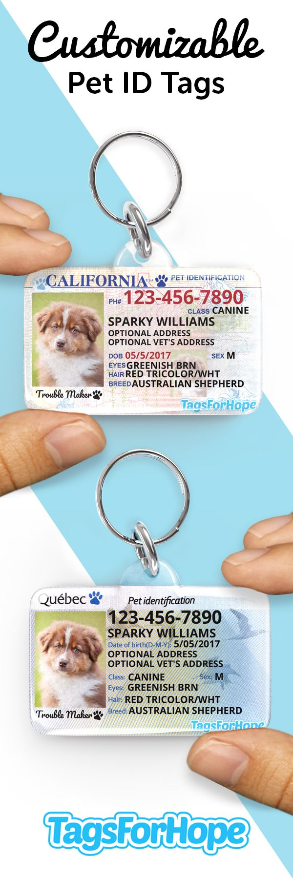 Keep your pets safe every tag purchased provides an animal in need