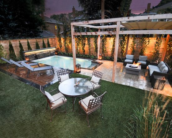 Back Yard Make Overs Traditional Small Backyard Pool And Fire Pit Beauteous Backyard Designs With Pool Decoration