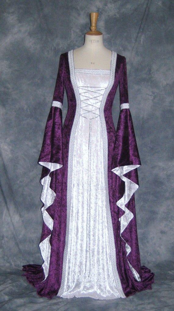 Alexandra, a Medieval, Elvish, Pagan Custom Made Handfasting Dress ...