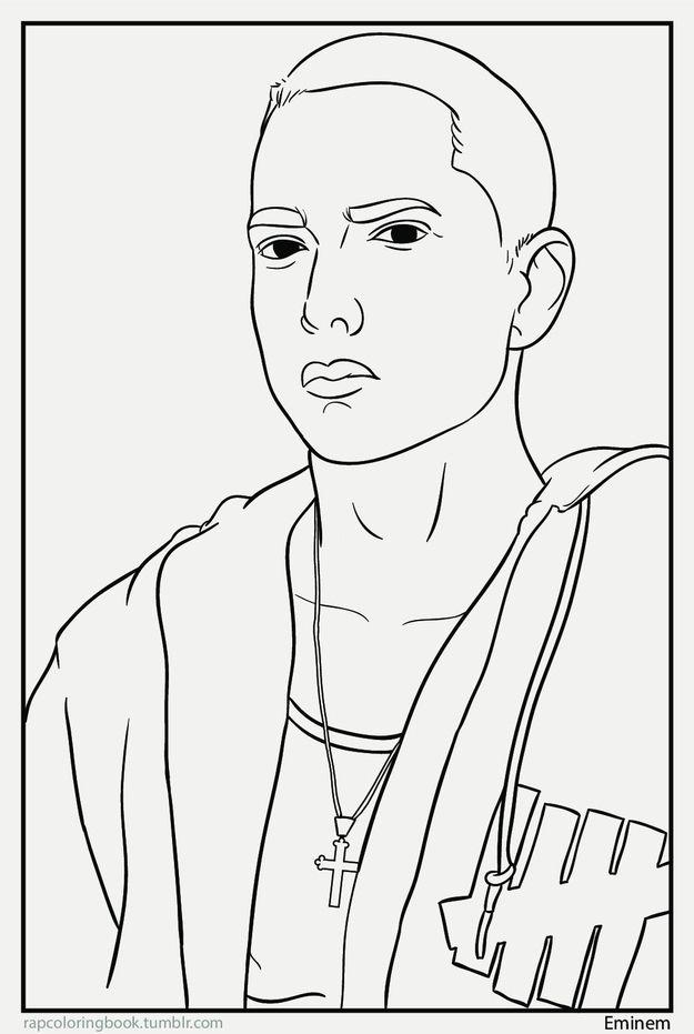 Eminem Coloring Books Eminem Drawing Hip Hop Artwork