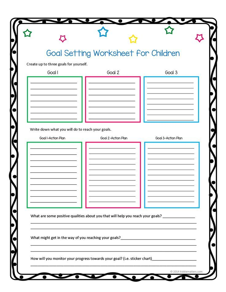 Helping Children Learn How To Set Goals And Action Plans  Th