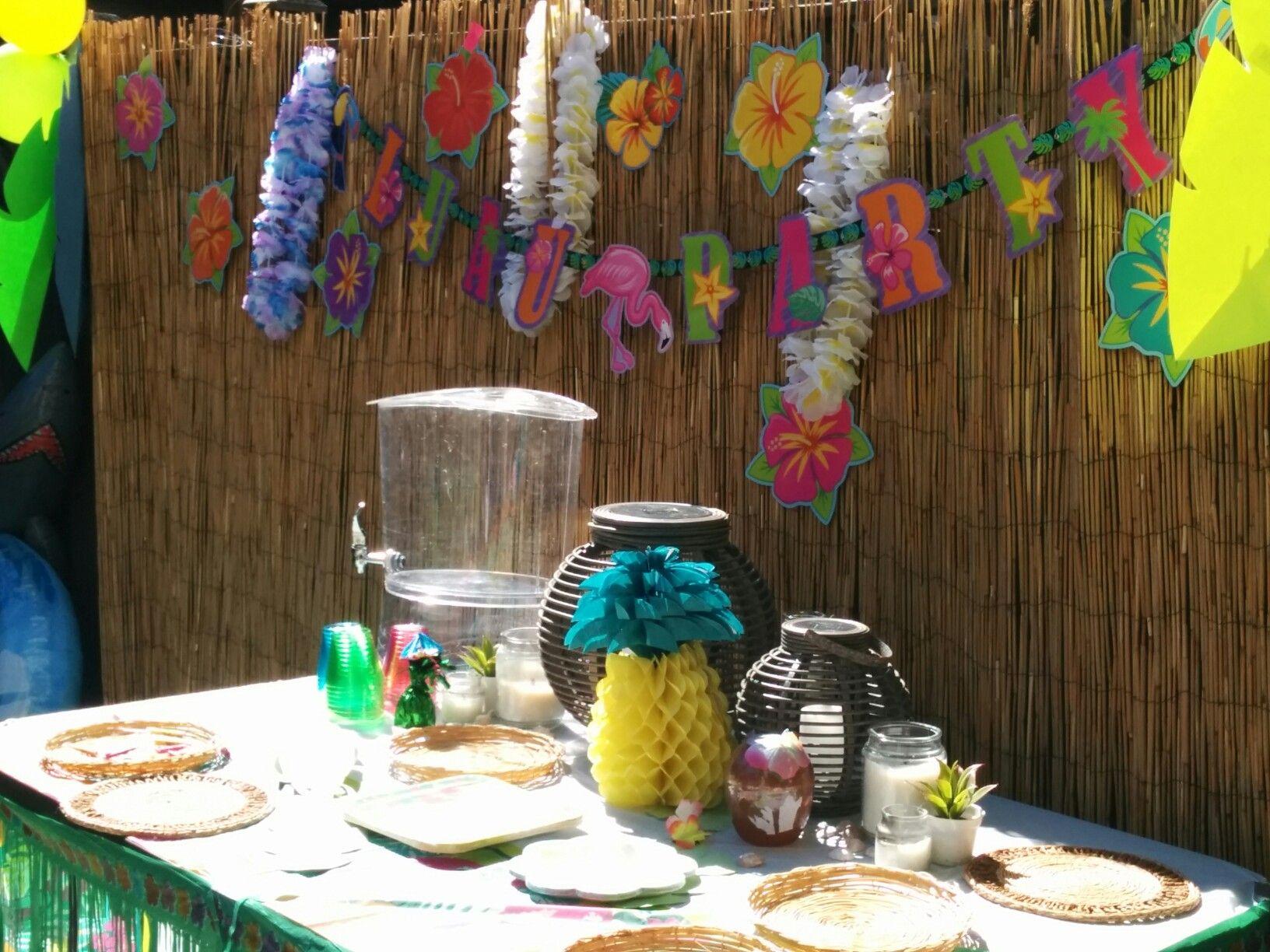 Kids luau party june 2016