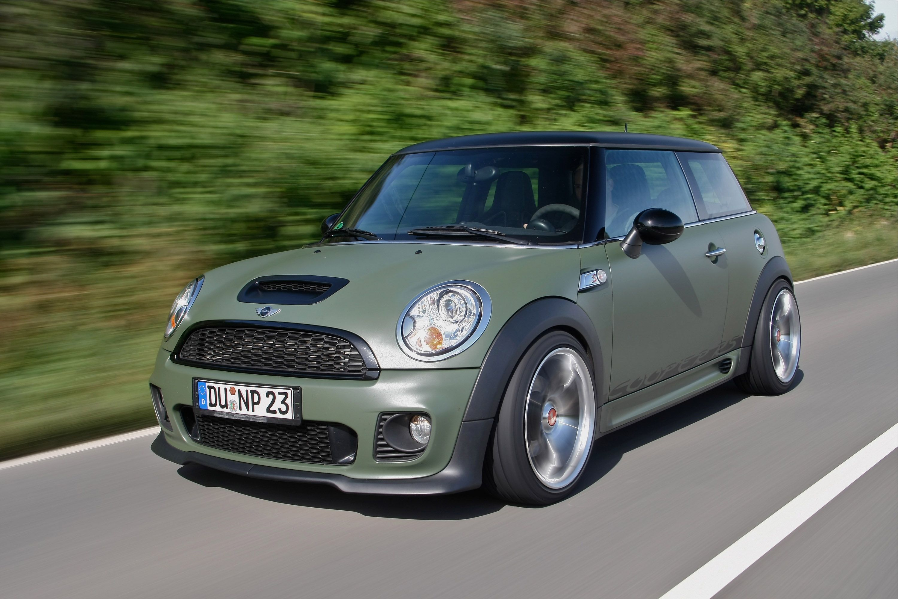 mini cooper s wrapped army green mini coopers. Black Bedroom Furniture Sets. Home Design Ideas