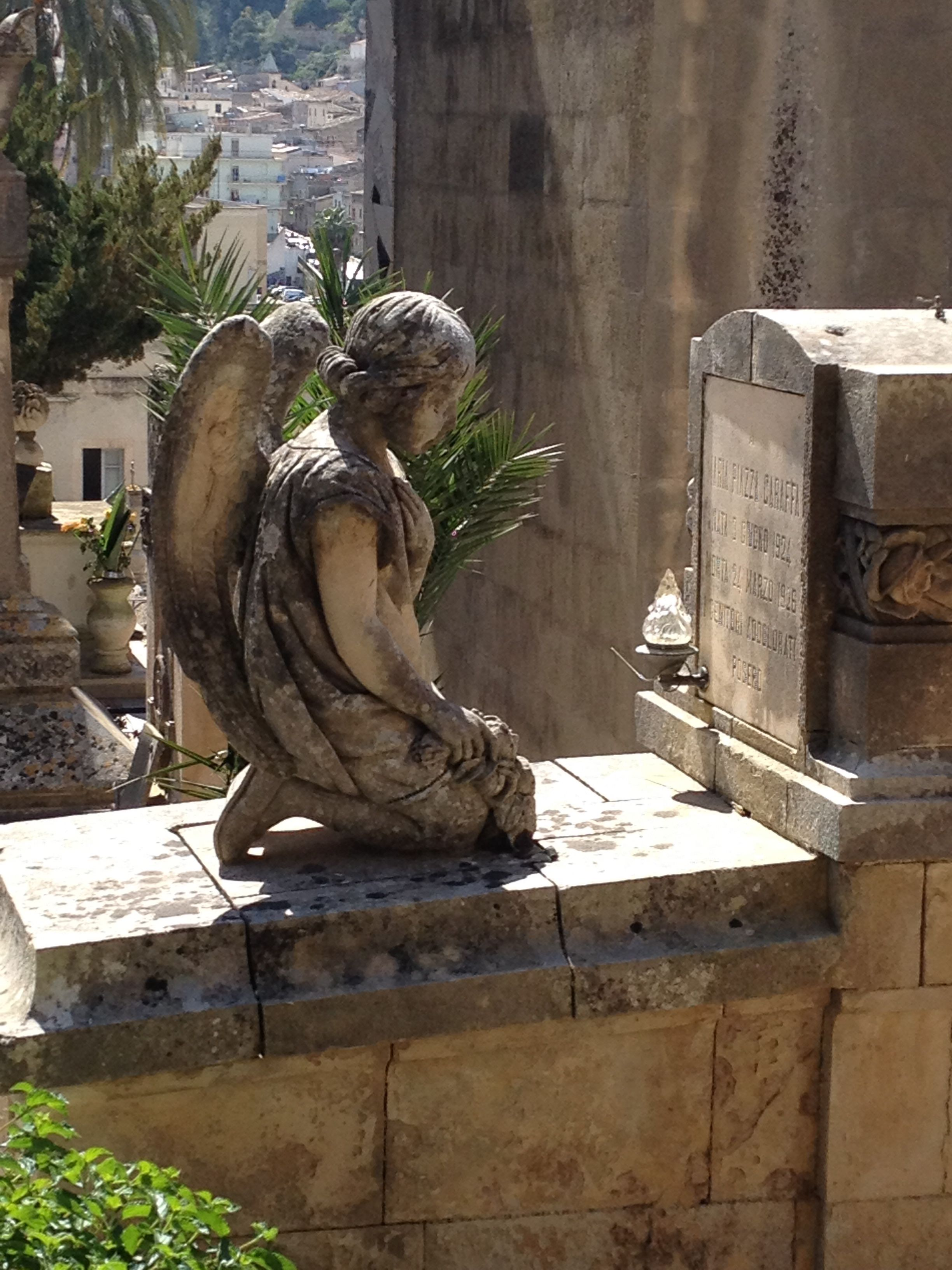 Scicle, Sicily...cemetery with beautiful tributes