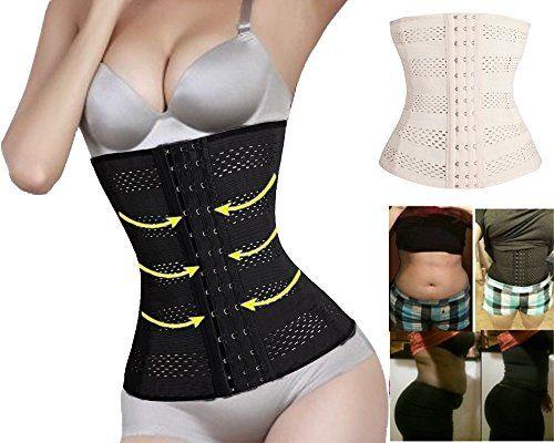 FOCUSSEXY Slimming Body Shaper Belly Corsets Waist Trainer Training Corset Women
