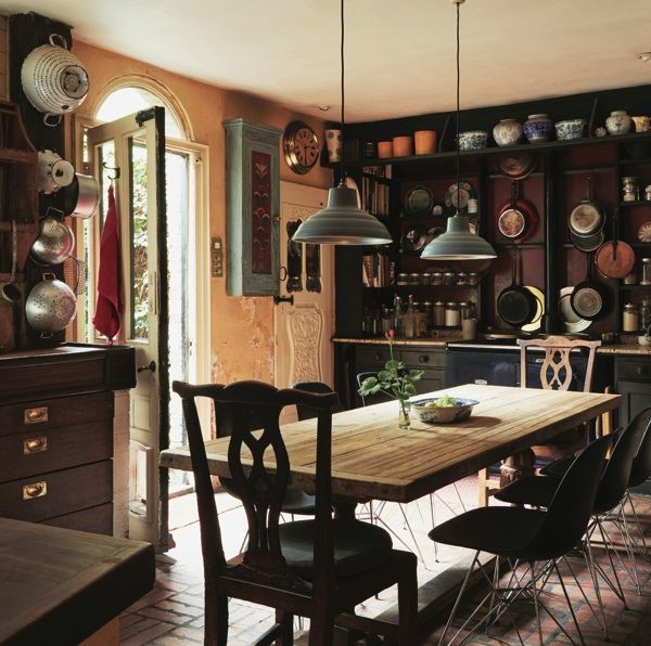 Kitchen, Jocasta Innes' home, connected to Richard MacCormac's house in Spitalfields