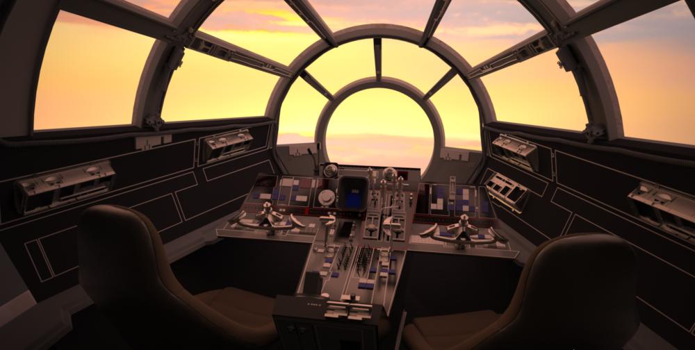 Screen Accurate Millennium Falcon Cockpit Cg Model Millennium Falcon Millenium Falcon Cockpit