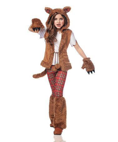 costume culture brown red plaid wolf dress up set kids - Wolf Halloween Costume Kids