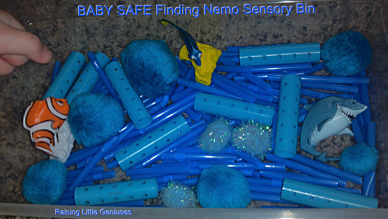 Finding Nemo Sensory Bin That S Baby Safe Easy To Put