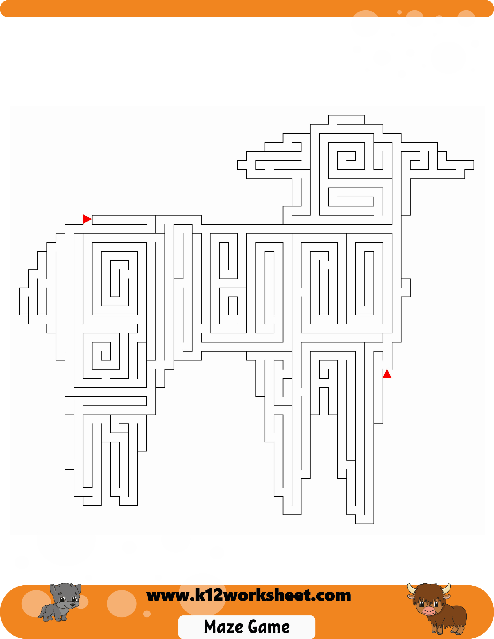 Sheep Maze For Kids Mazes Are Really Fun And A Good Way
