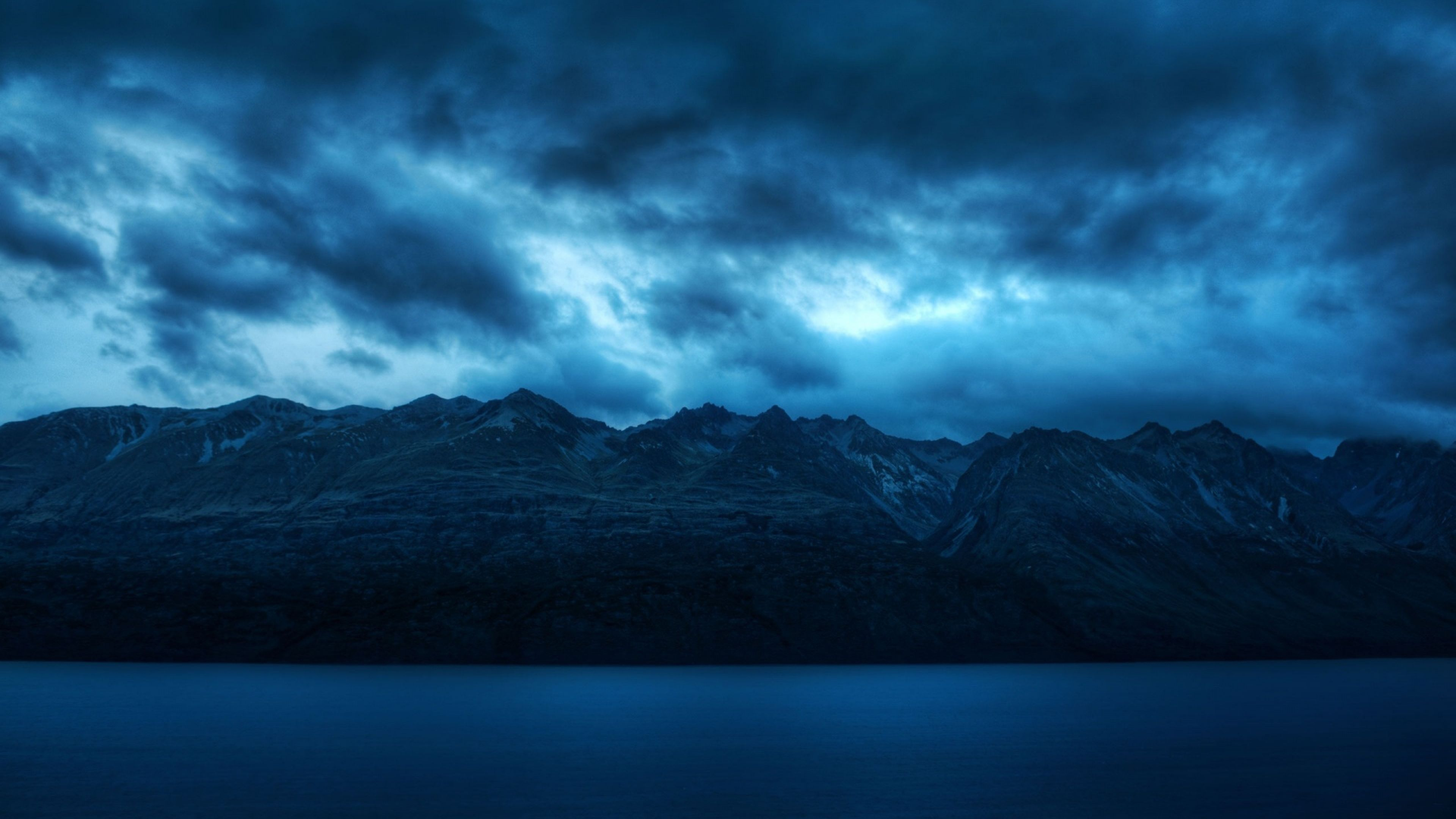 Dark Blue Mountains 3840 X 2160 Hd Nature Wallpapers Nature Wallpaper Mountain Wallpaper