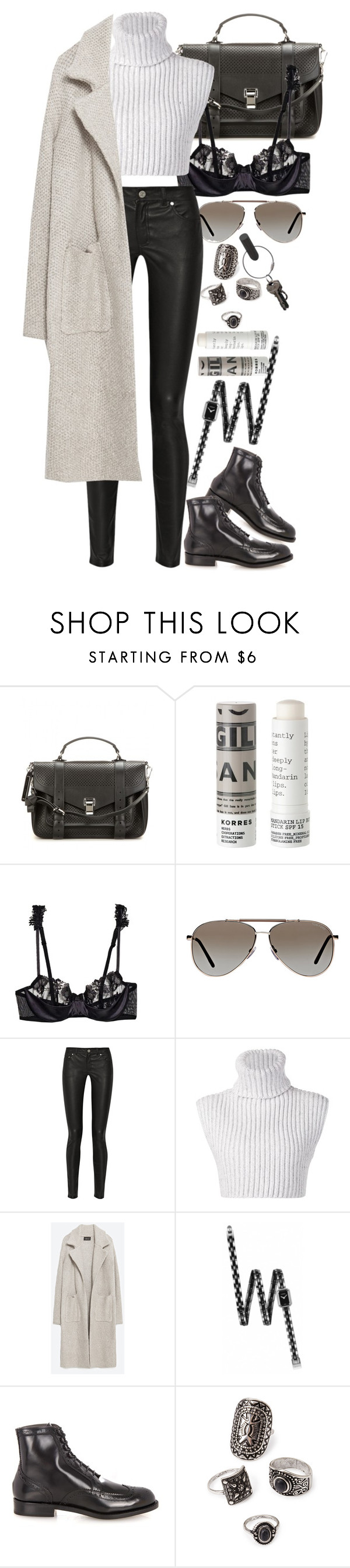 """""""Untitled #8112"""" by nikka-phillips ❤ liked on Polyvore featuring Proenza Schouler, Korres, La Perla, Tom Ford, Acne Studios, Baja East, Zara, Chanel, Robert Clergerie and Forever 21"""