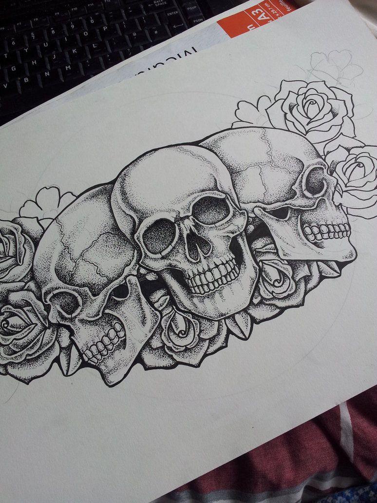 403 Forbidden Chest Piece Tattoos Skull Rose Tattoos Pirate Skull Tattoos