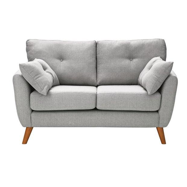 Buy Argos Home Kari 2 Seater Fabric Sofa Light Grey Sofas Fabric Sofa Gray Sofa Home