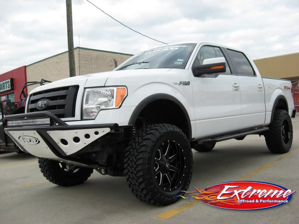 Ford F150 Addictive Desert Designs Stealth Front Bumper With White