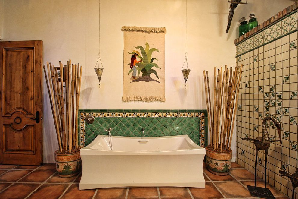 Spanish Hacienda Bathroom Southwestern With Spanish Tile Southwestern Wall And Floor Tiles Hacienda Bathroom Bathroom Wall And Floor Tiles
