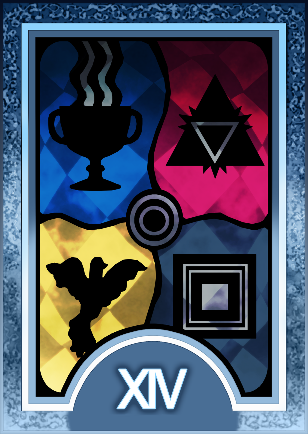 Persona 3 4 Tarot Card Deck Hr Temperance Arcana By Enetirnel Persona Tarot Cards Tarot Card Decks Deck Of Cards