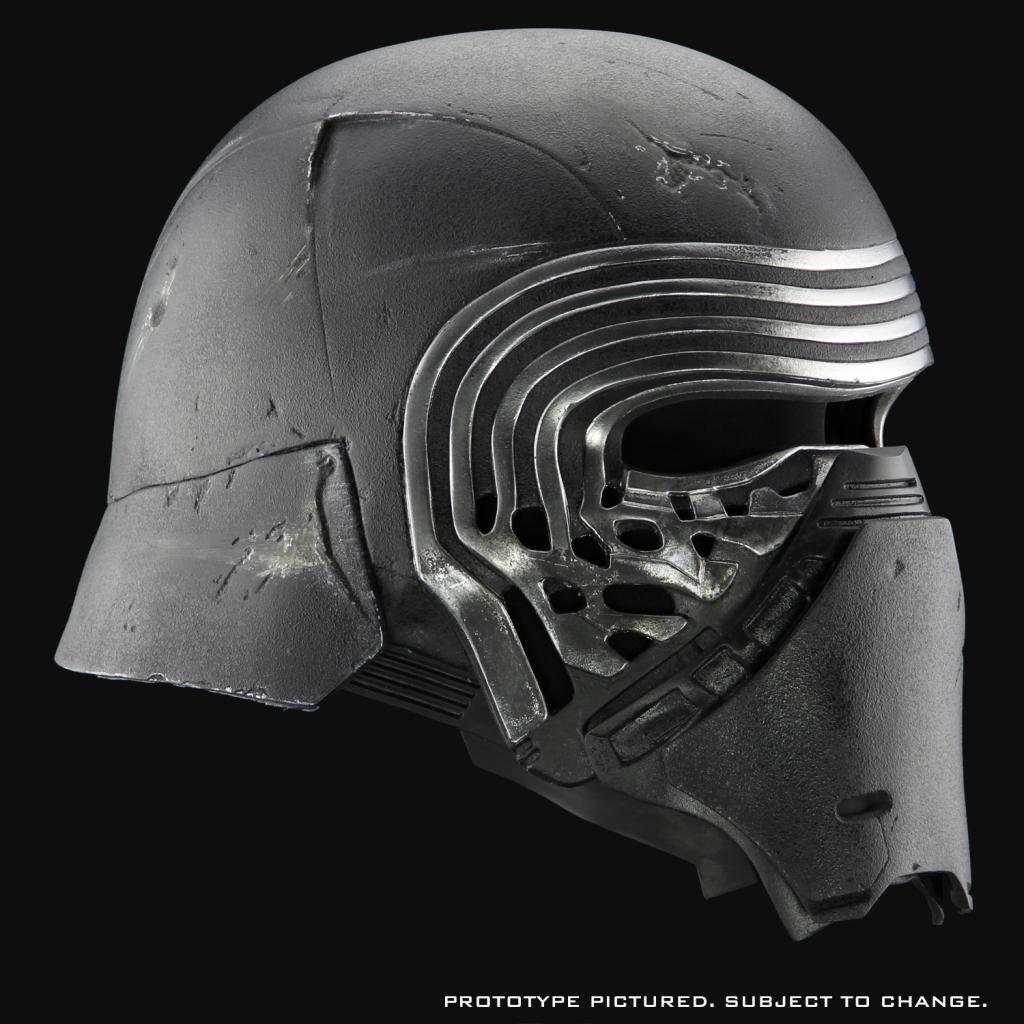 Feel The Dark Side With Anovos Amazing Kylo Ren Helmet First Look Starwars Com Kylo Ren Helmet Star Wars Episode Vii Star Wars Kylo Ren