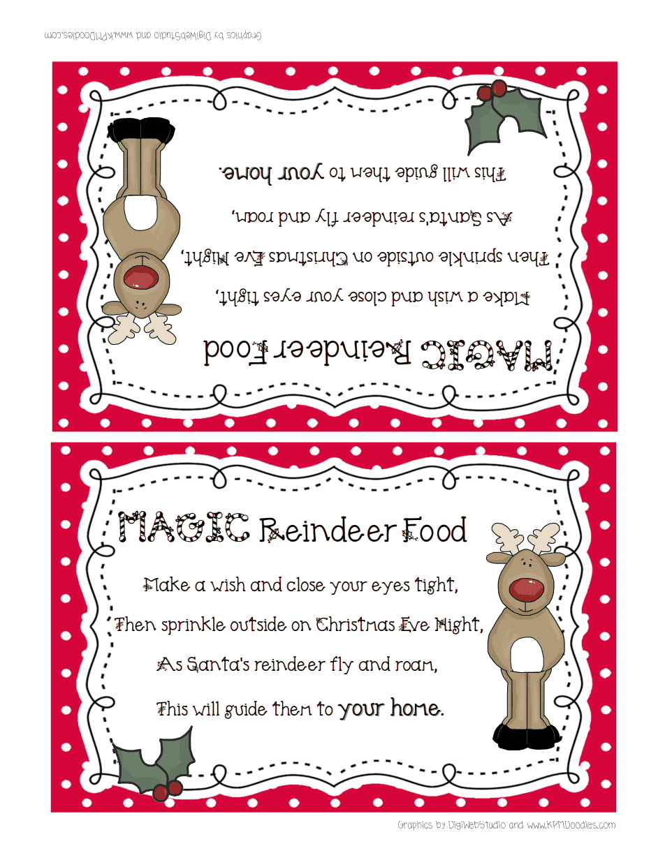 image regarding Reindeer Food Poem Printable identify reindeer foodstuff.pdf For the Property Reindeer food items, Reindeer