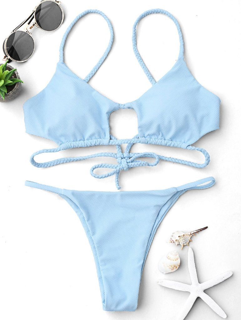 Cutout Braided Bralette String Bikini Set Bralette Bikini 1e82d14d41e3