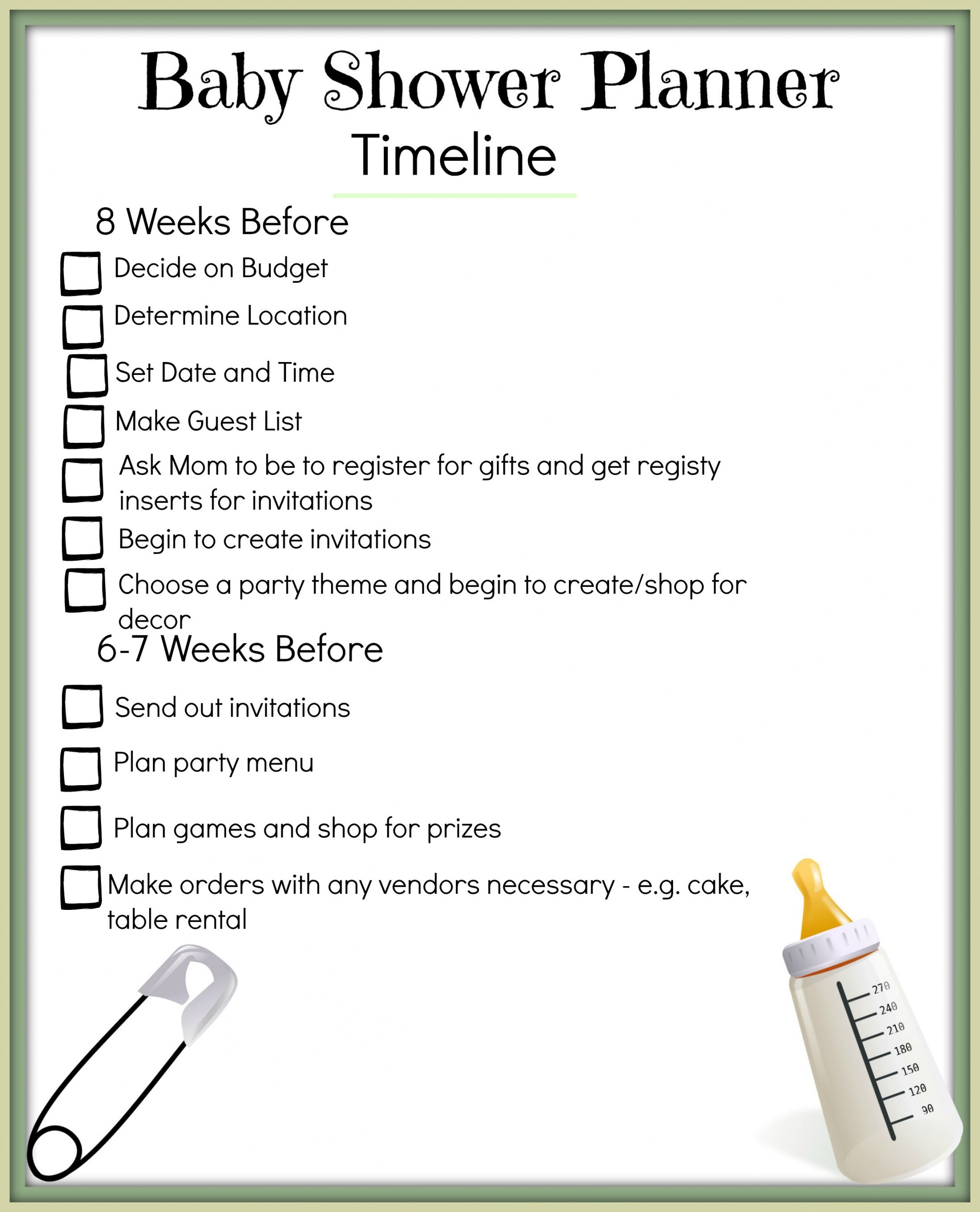 Get Our Example Of Baby Shower Itinerary Template Baby Shower Program Baby Shower Planning Bridal Shower Timeline