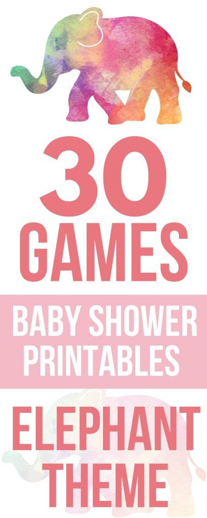 25 Cutest Printable Baby Shower Games Elephant Games – Print & Play