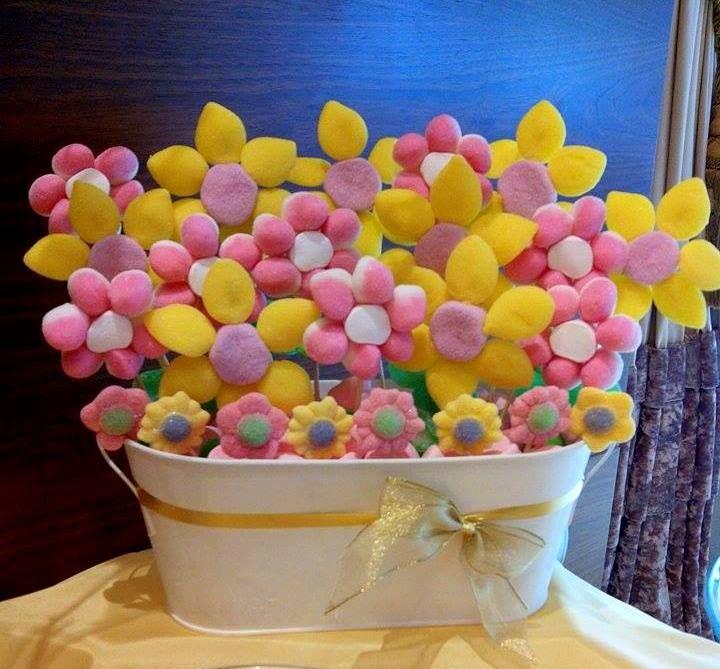 Flores para Candy Bar - Mesa de chuches Ahorro de espacio