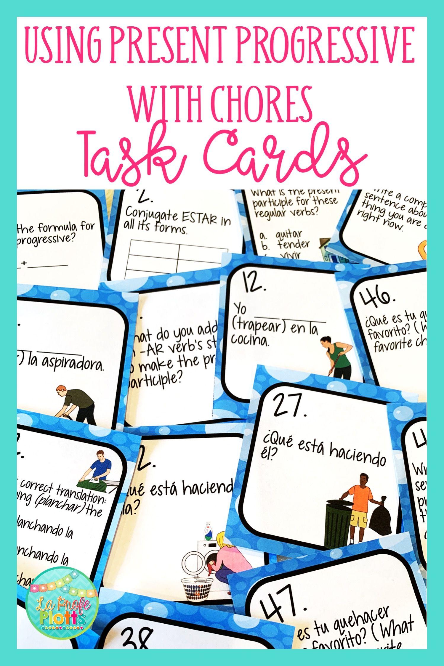48 Spanish Using Present Progressive With Chores Task