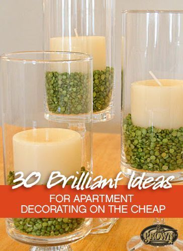 30 Brilliant Ideas for Apartment Decorating on the Cheap. Loved several of these. I want the chic looking headboard/frame thing!!