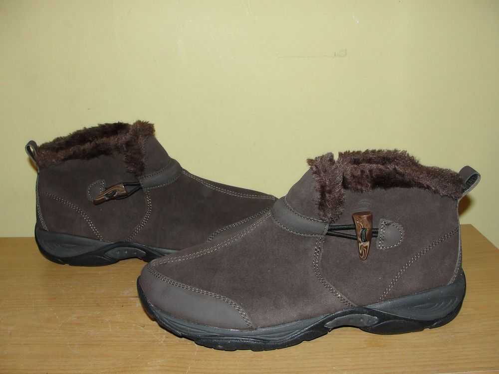 7c25b8d92c8 EASY SPIRIT Shoes ESENDURA Brown Leather Ankle Boots Booties Explore ...