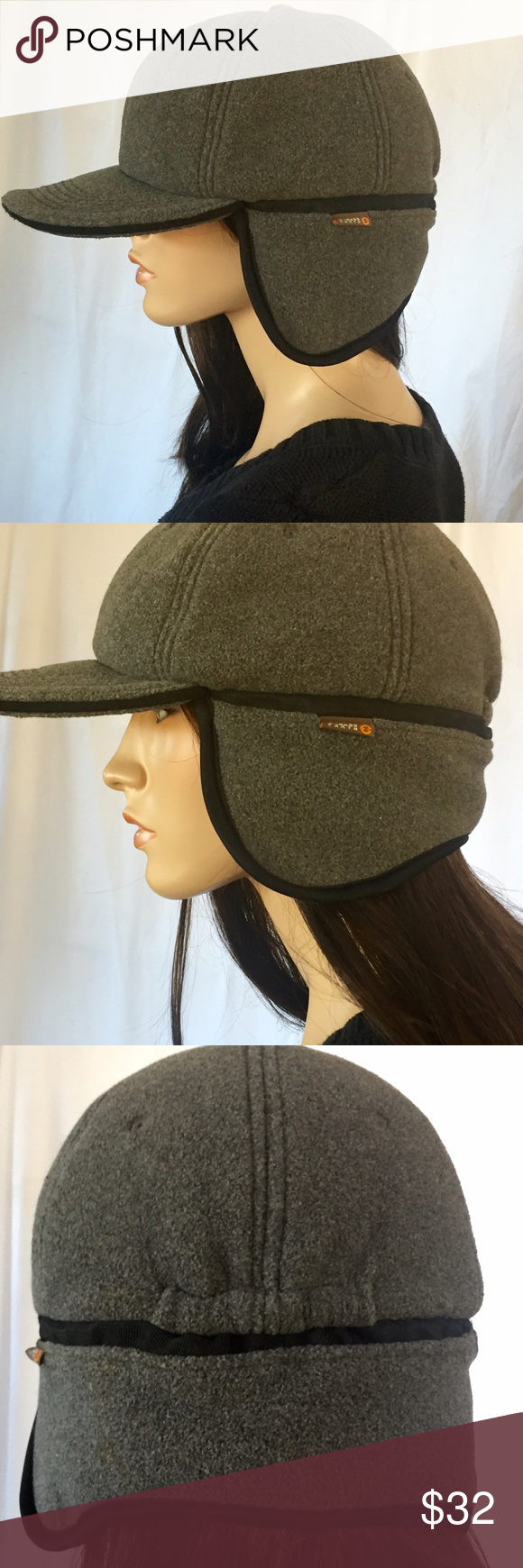 7eb8a05170625 GH BASS Earth polar fleece RAD cap hat ear flaps Gray fleece. Perfect for  colder weather or just looking RAD! Adult one size Bass Accessories Hats