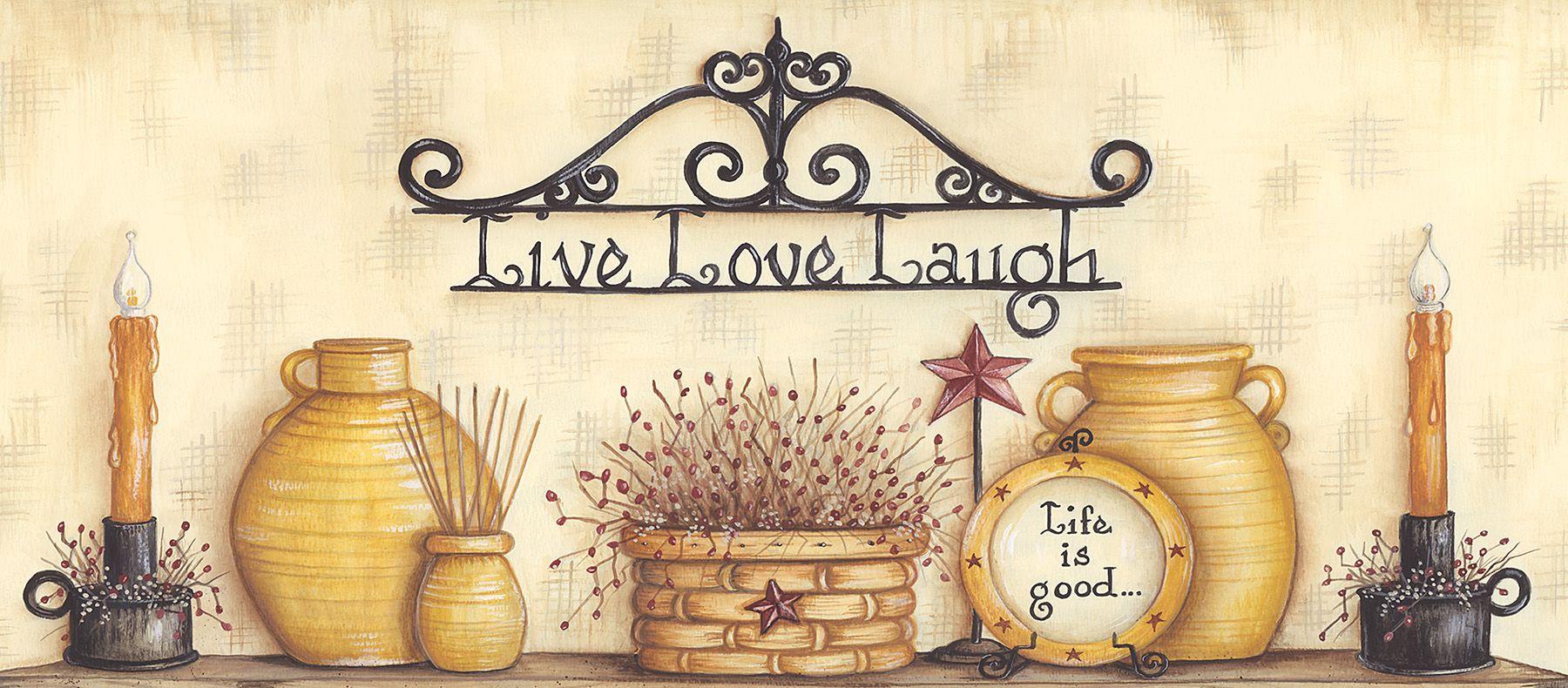 Live Love Laugh Border Kitchen wallpaper, Wallpaper
