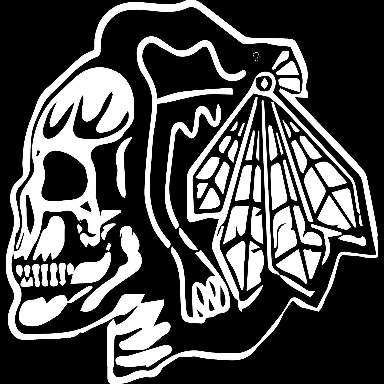 separation shoes 8dd1b 17752 Chicago Blackhawks Skull logo Tshirt by TOPTiERiNC on Etsy ...