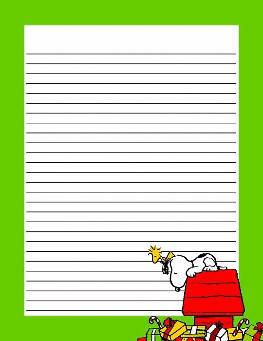 Christmas Snoopy Printable Stationery Pinterest Christmas - free lined stationery