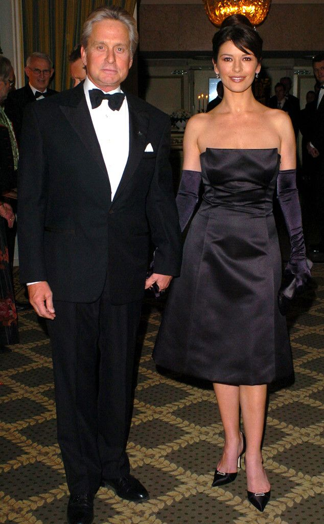 Couple Go-Lightly from Catherine Zeta-Jones & Michael Douglas: Romance Rewind  Catherine channels Audrey Hepburn at the 2003 Nobel Peace Prize Awards Gala.